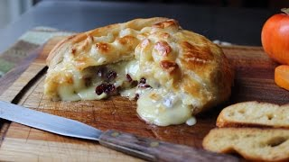 Baked Stuffed Brie - Brie en Croute stuffed with Cranberries...