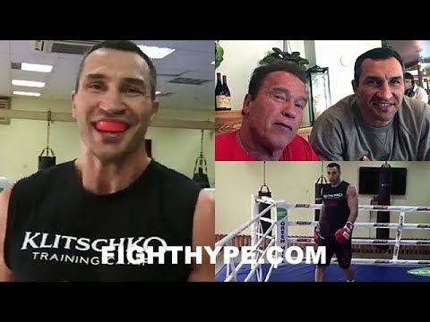 """KLITSCHKO BACK IN RING, DECLARES """"I STILL GOT IT"""", WORKS OUT WITH SCHWARZENEGGER; IS HE COMING BACK?"""