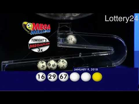 2018 01 09 Mega Millions Numbers and draw results