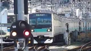 [警笛3回あり]E233系小田急線向ヶ丘遊園駅 引込線発車