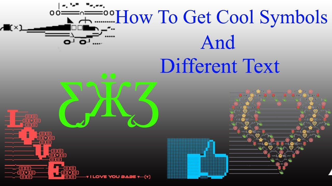 How to get cool symbols and different text youtube how to get cool symbols and different text biocorpaavc Image collections