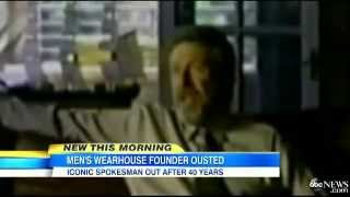 Men's Wearhouse Founder George Zimmer Fired  Man Famous for Commercials Reacts to Termination   Vide