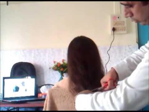 Hairstyles For Long Hair S In Hindi : Pretty women long hair cut youtube