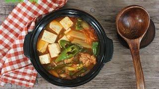 참치김치찌개 만들기,참치김치찌개 황금레시피-Tuna Kimchi Stew