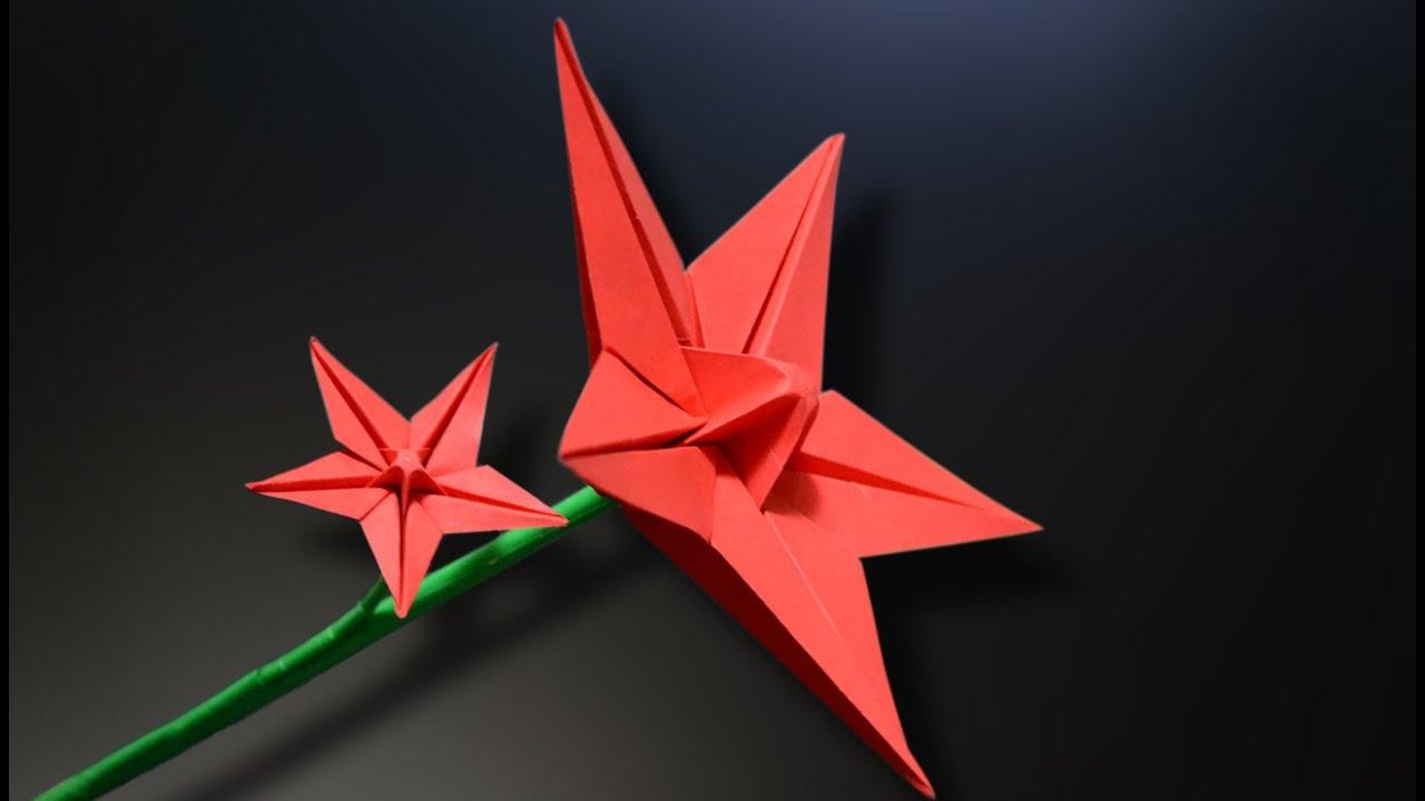 origami flower instructions youtube
