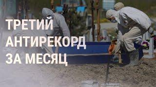 Максимальная смертность от COVID-19 в России   НОВОСТИ   29.07.21