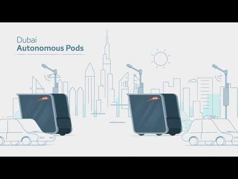 World's First Autonomous Pods in Dubai : Future Transportation : Driver-less Vehicles
