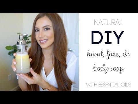 Homemade body wash using essential oils