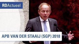 Bijdrage Van der Staaij APB2018
