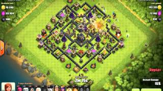 "Clash of Clans ""Loot Strategi Giant tetapi salah buang Spell Healing TH 9"""