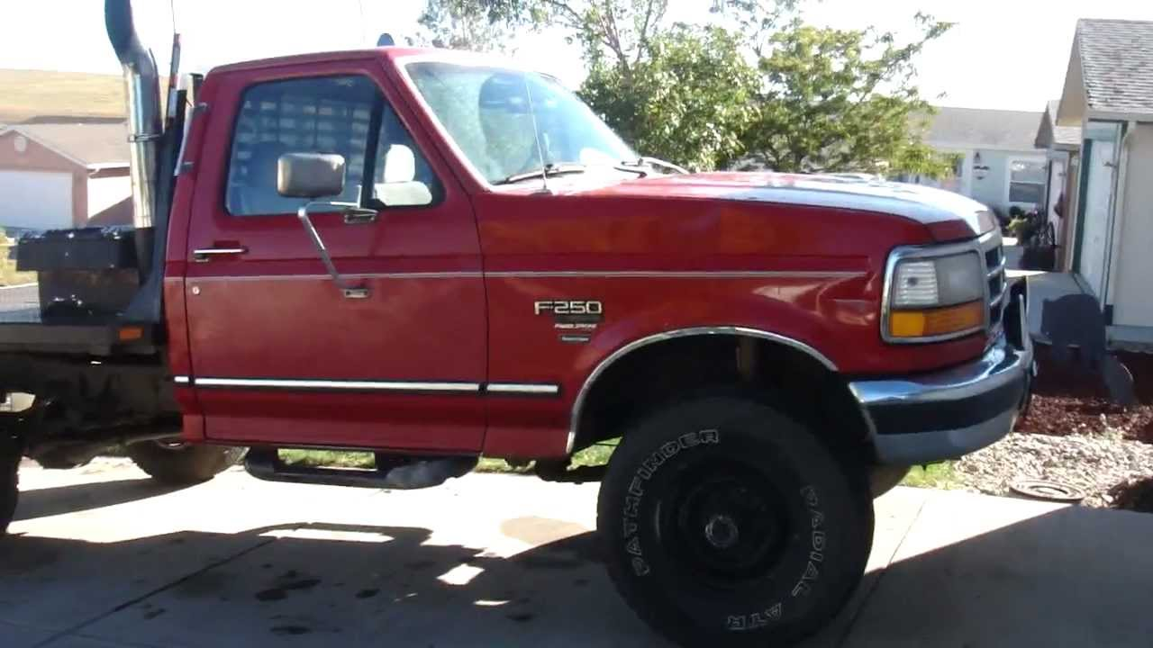 1995 Ford F250 >> 95 f250 7.3 powerstroke - cold start - YouTube