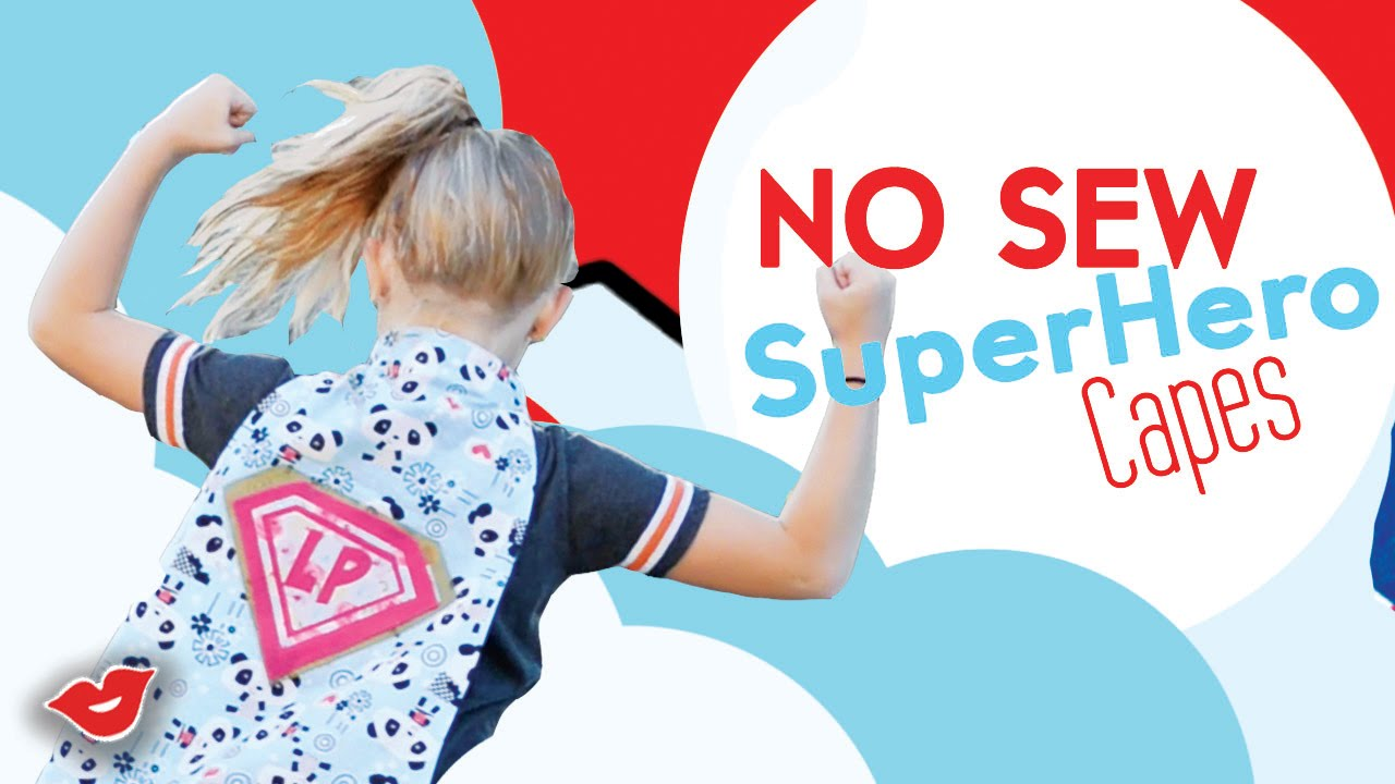 No Sew Diy Super Hero Capes For Kids Tay From Millennial Moms