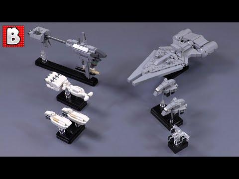 LEGO Nebulon B, Arquitens, CR90, Gozanti, And MORE!!! Star Wars Nano Scale Is Here!