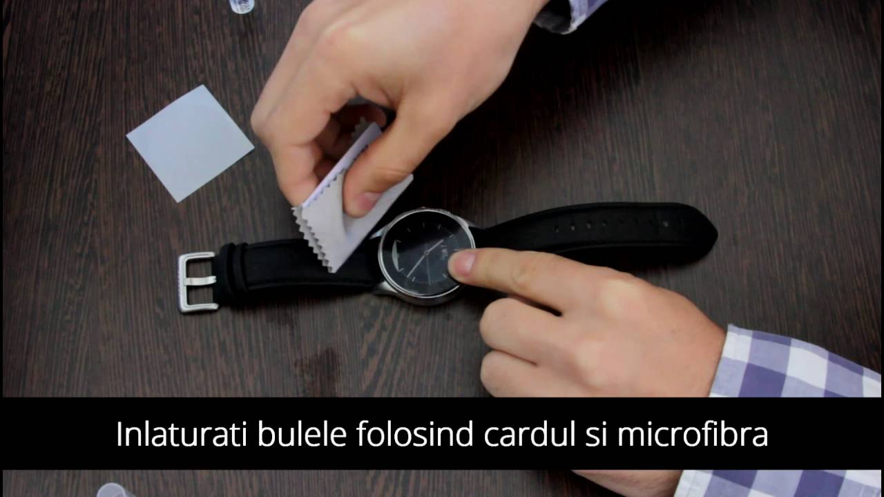 Instalare folie Clasic Smart Protection Smartwatch Vector Luna