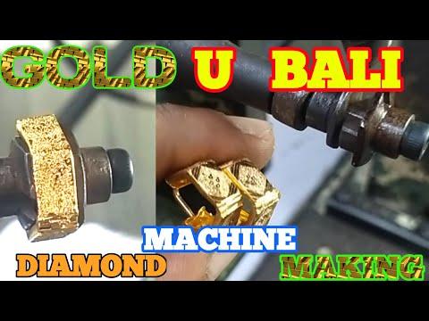 GOLD U BALI🔸BARFI DESIGN/0.5mm V FLAT TOOLS/CNC TOOLS 🟡 DESIGN #RAJARAM #GOLDMACHNE TODAY GOLD PRICE