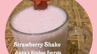 Strawberry Shake with icecream by Aisha   Healthy Milk shake   Healthy Drink
