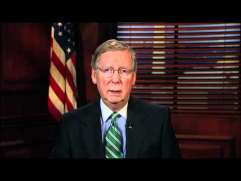3/24/12 - Senate GOP Leader Mitch McConnell Delivers Weekly GOP Address On Obamacare Anniversary