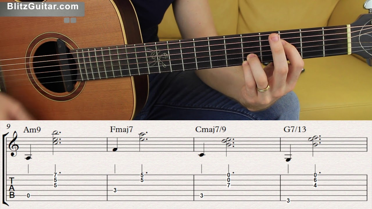 Extended Chords On Fingerstyle Guitar Learn Extended Chords Youtube