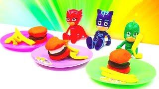 Çizgi film oyuncakları. PJ Maskeliler eğlenceli oyunlar. Çocuk videosu
