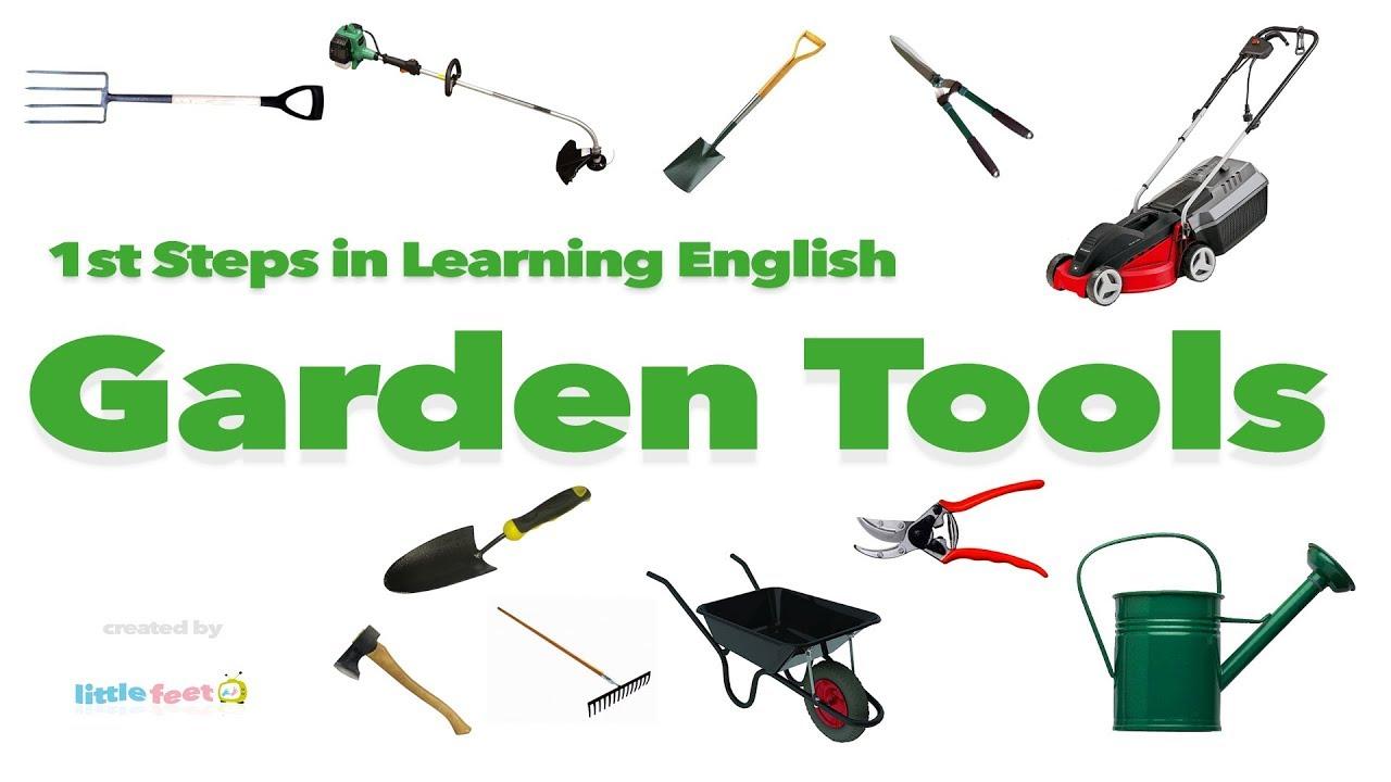 English Vocabulary Garden Tools Youtube