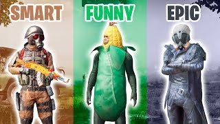 SMART vs FUNNY vs EPIC in PUBG MOBILE