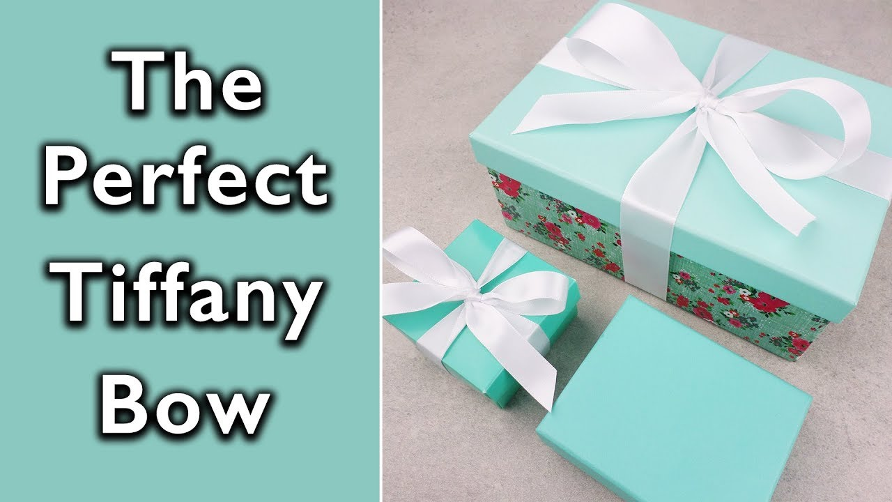 becdb7423dd4 How to tie the Perfect Tiffany and Co bow