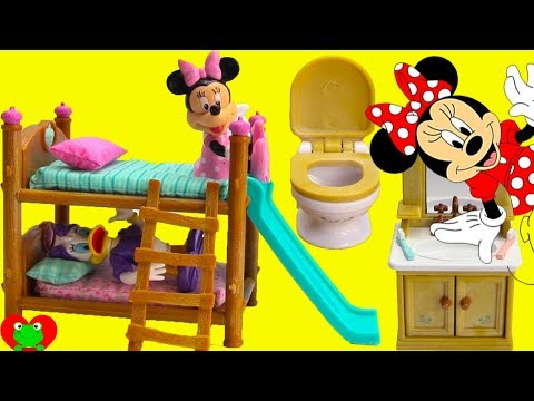 Minnie Mouse And Daisy Bedtime Routine And Bunk Beds