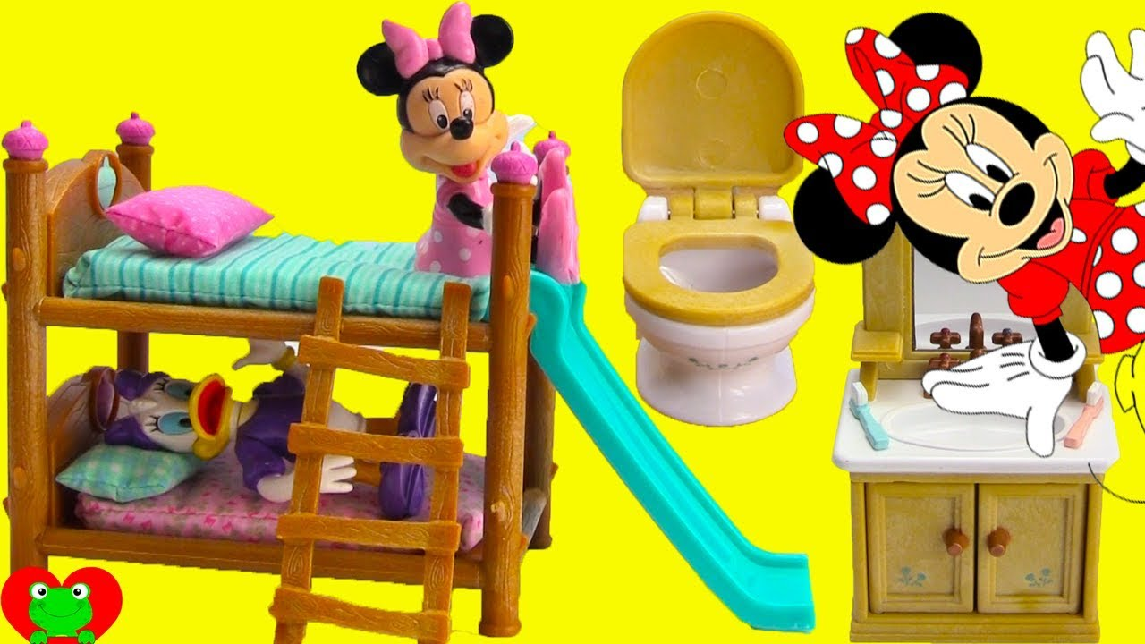Minnie Mouse And Daisy Bedtime Routine And Bunk Beds Youtube