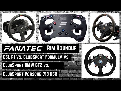 Fanatec ClubSport Formula vs. BMW M3 vs. Porsche 918 vs. CSL P1 Rim [deutsch german english CC]