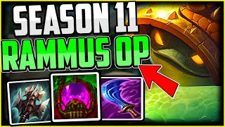 How to ACTUALLY CARRY on Rammus Jungle + Best Build/Runes Season 11 - League of Legends