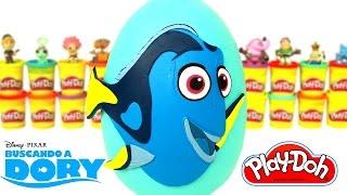 Huevo Sorpresa Gigante de Buscando a Dory en Español Plastilina Play Doh thumbnail