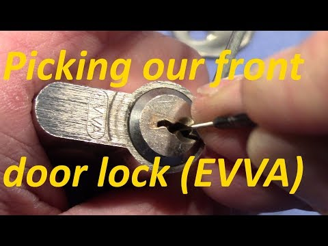 Взлом отмычками EVVA 5-pin  (picking 466) EVVA 5-pin euro cylinder from our front door picked and gutted - a bit disappointed (That