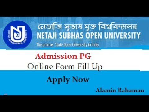 Netaji Subhas Open University (NSOU) Admission PG