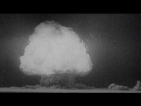 Archive footage of Hiroshima bombing