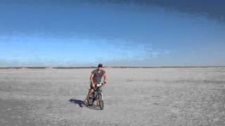 Riding on the salt lake