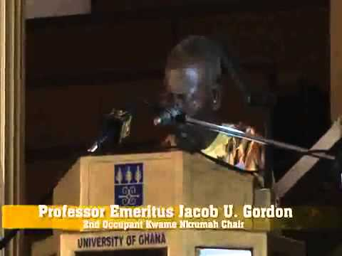 Inaugural Lecture Winning the Future of African Studies in Africa Prof  Jacob U  Gordon