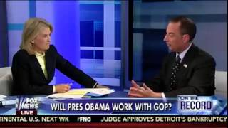 """RNC Chairman Reince Priebus on """"On the Record"""""""