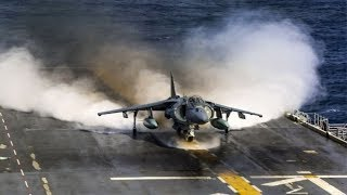 Awesome Footage of Av-8b Smooth Vertical Take off and landing