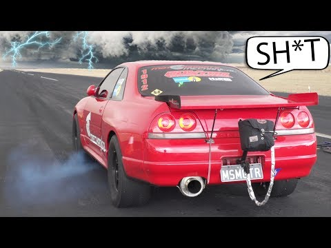 MASSIVE Storm Hits GTR's WHILE RACING!