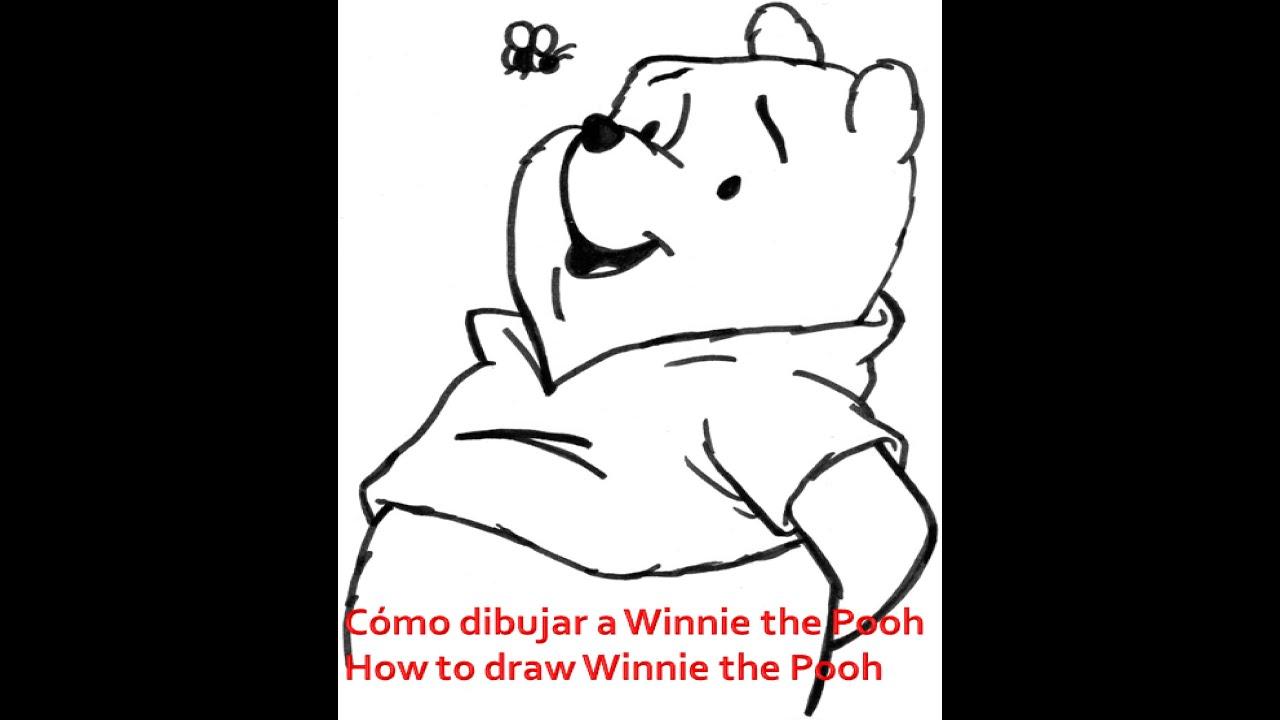 Cómo dibujar a Winnie the Pooh - How to draw Winnie the Pooh - YouTube
