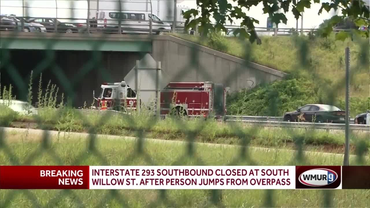 I-293 South closed after person jumps from overpass