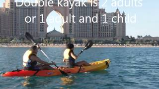 Guided kayak tour around Palm Jumeirah, Dubai, UAE