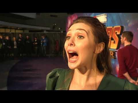 Avengers: Infinity War: Elizabeth Olsen Scarlet Witch Movie Premiere Interview