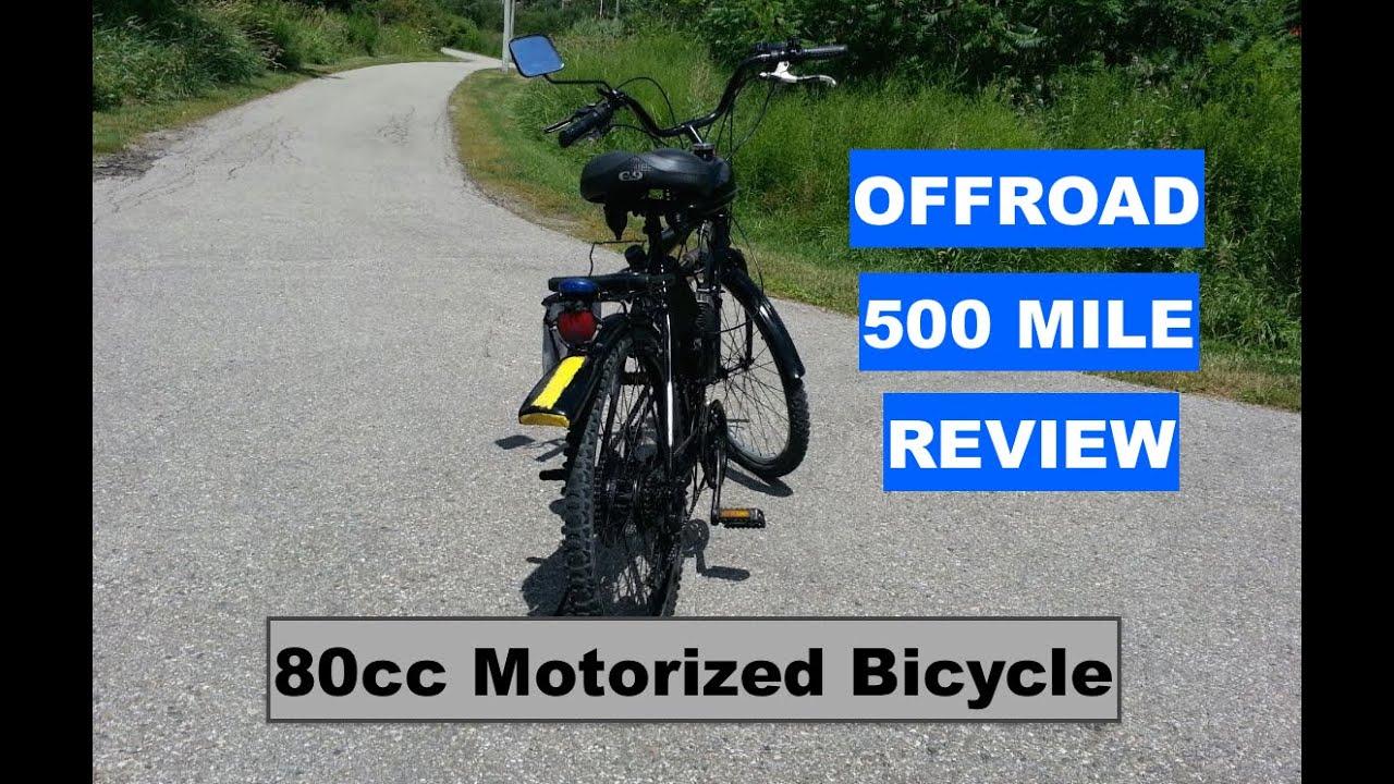 80cc Motorized Bicycle Skyhawk 500 Mile Pov Riding Review