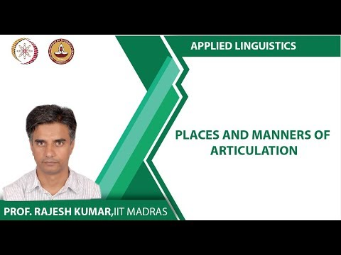 Lec 6 - Places and Manners of Articulation