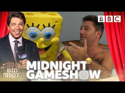 Spongebob surprises Italian chef Gino D'Acampo in Michael McIntyre's wake up prank quiz! 😂- BBC