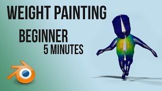 weight painting/skinning   tutorial   Blender   Quick