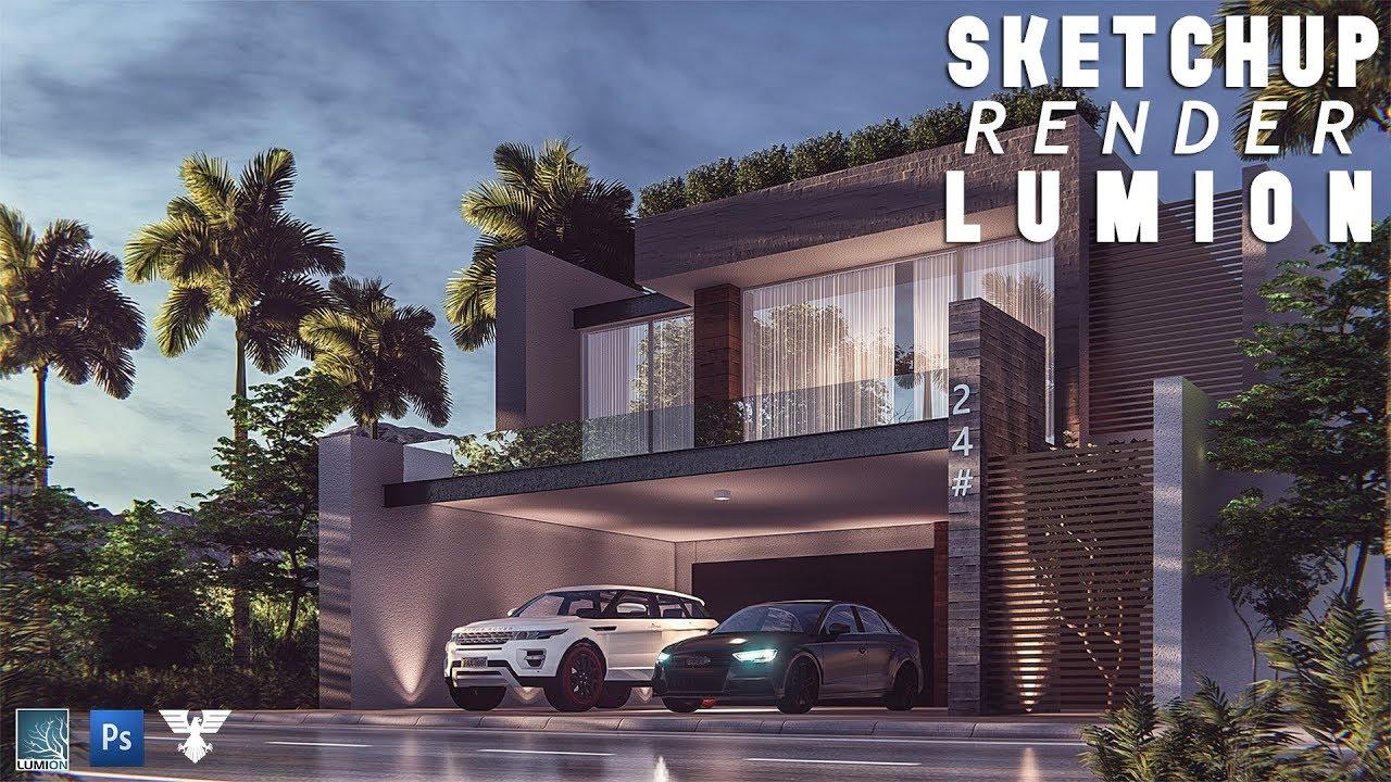 Lumion 65 Rendering Tutorial 52  Best Modern House 2