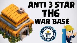 NEW TH6 WAR BASE 2018 Anti 3 STAR | Town Hall 6 (TH6) WAR BASE CLASH OF CLANS