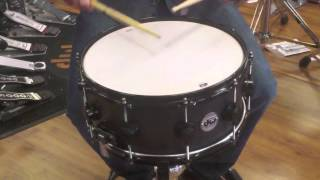 DW Collectors Series Maple 6x14 Ebony Satin Oil Snare Drum
